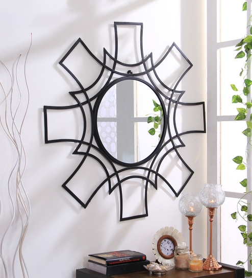Buy Daphne Abstract Wall Mirror in Metallic Frame by Hosley Online ...