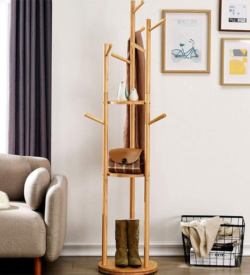 Wooden Brown Coat Stand By House Of Quirk