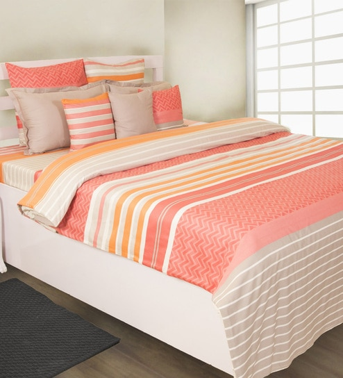 Coral 100% Cotton Bed Sheet By House This