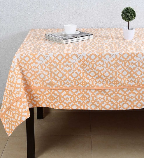 63faa47707e Buy Cotton Orange Table Cloth Online - Ethnic Table Cloths - Dining   Bar -  Dining   Bar - Pepperfry Product