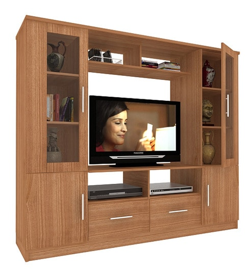 Housefull Cosmo Display Wall Unit in Walnut Finish by Housefull ...