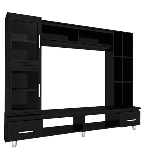 Buy Sedron Display Wall Unit in Wenge Finish by Housefull Online ...