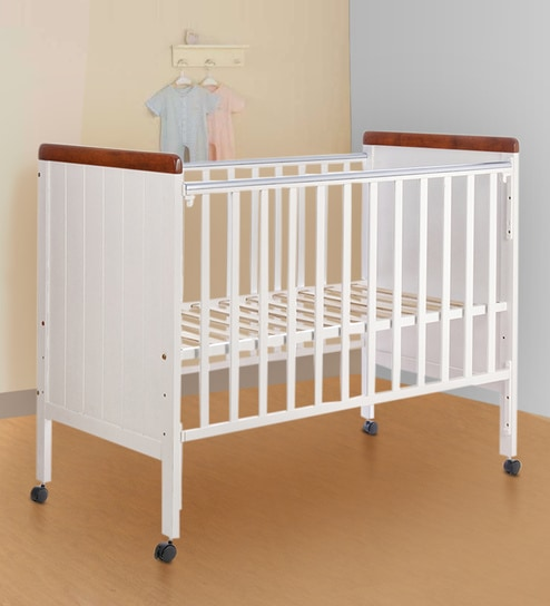 Howard Solid Wood Baby Cot In White Colour