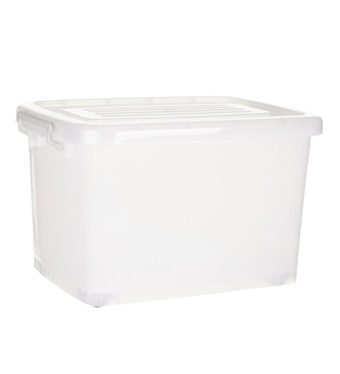 Howards Easy Store Storage Box With Wheels   50Litre   Pack Of 2