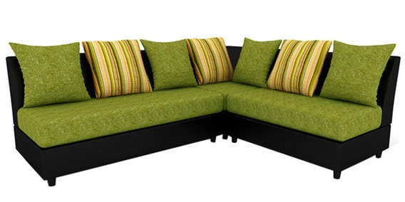 Housefull Chicago L Shaped Soaf Set In Green Colour By Housefull