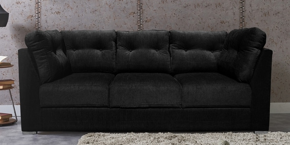 Enjoyable Houston 3 Seater Sofa In Black Colour By Livestyle Furniture Home Remodeling Inspirations Gresiscottssportslandcom