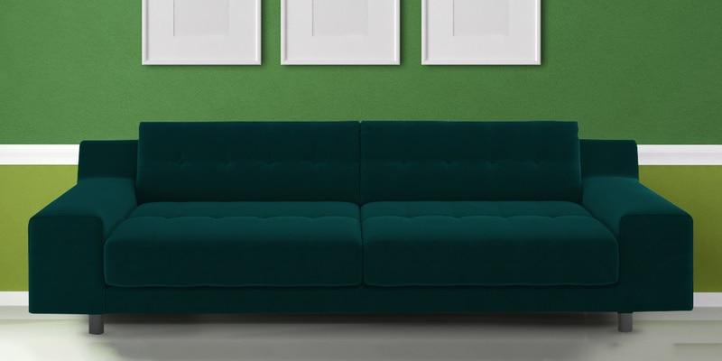 Hipe 3 Seater Sofa in Dark Green colour by Dreamzz Furniture