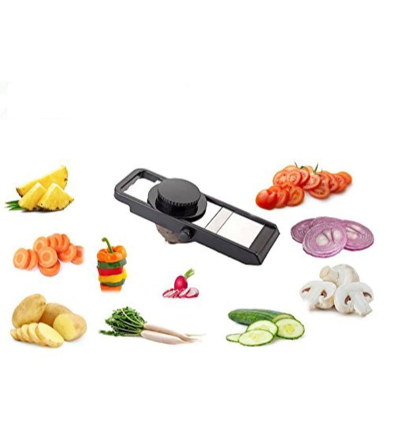 Home Creations Adjustable Vegetable Cutter Slicer with Safety Holder
