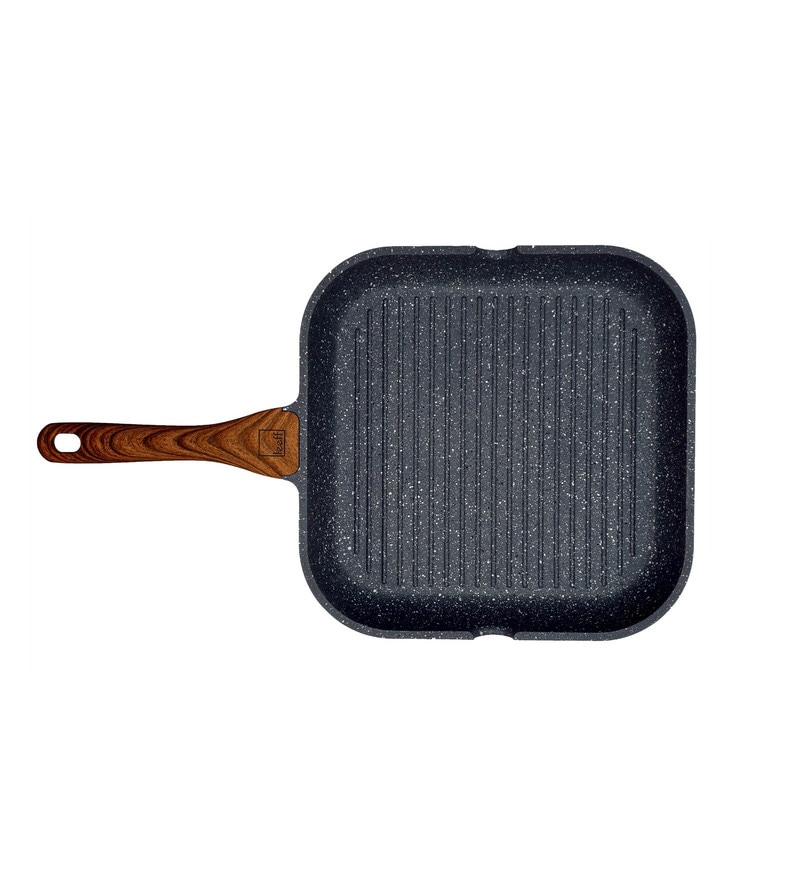 Aluminium Granite Coated Non Stick Induction Base Grill Pan by Home Creations