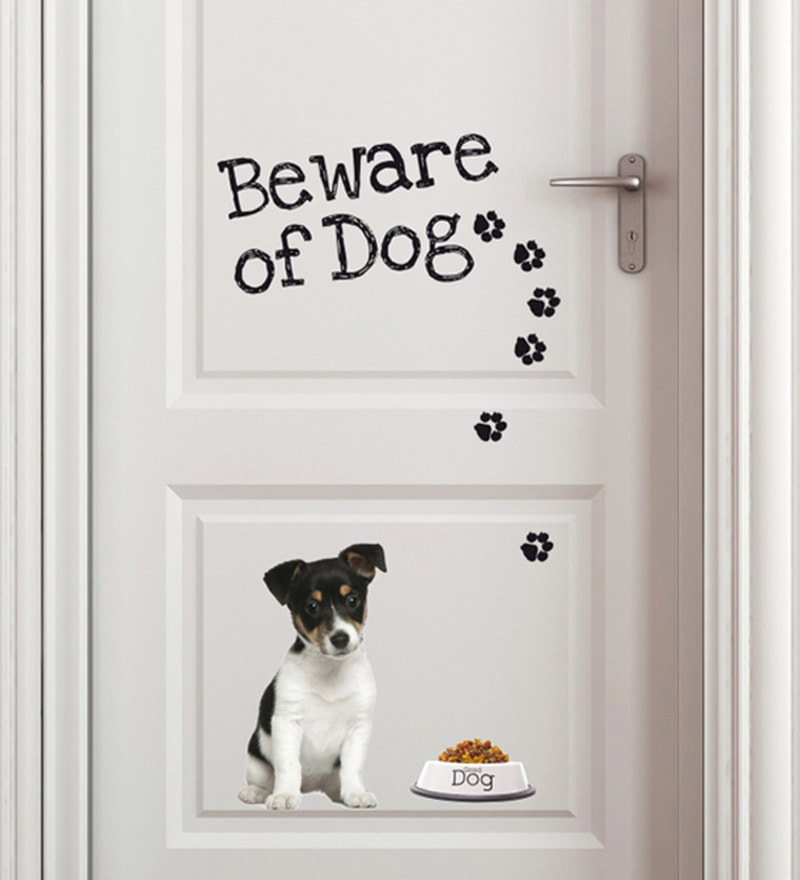 Vinyl Beware of Dog Wall Sticker by Home Decor Line