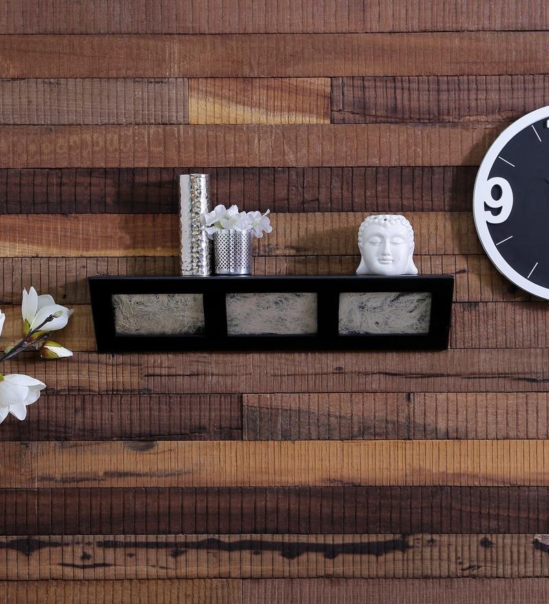 Santa Fe Contemporary Wall Shelf in Black by CasaCraft
