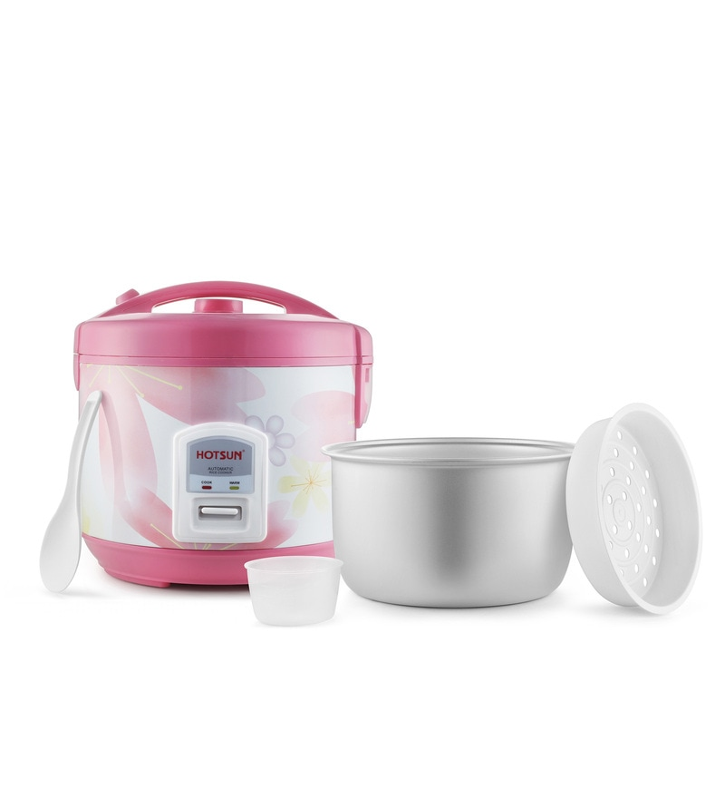 Hotsun Superb 1.8 Litres Pink Plastic & Steel Electric Cooker