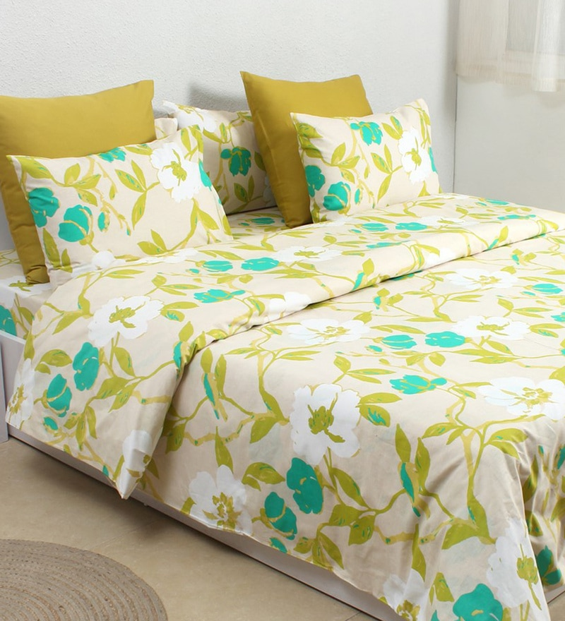 Green 100% Cotton Single Size Dohar by House This