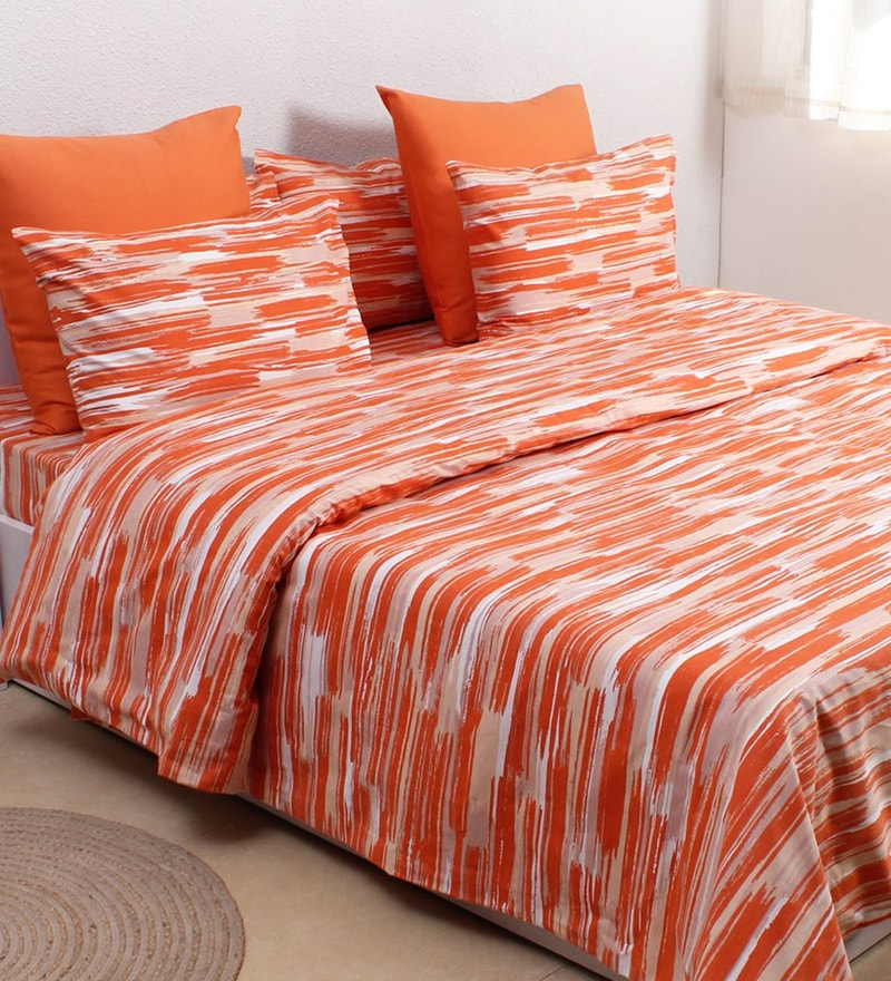 Orange 100% Cotton Single Size Dohar by House This