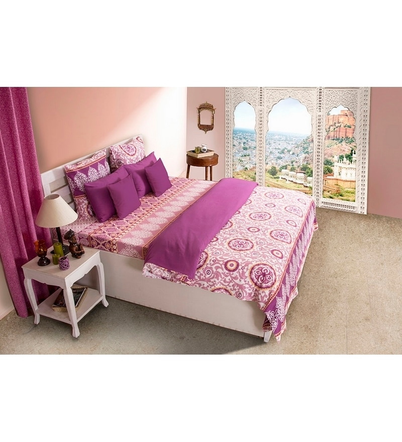 House This Pink Cotton Double Duvet Cover