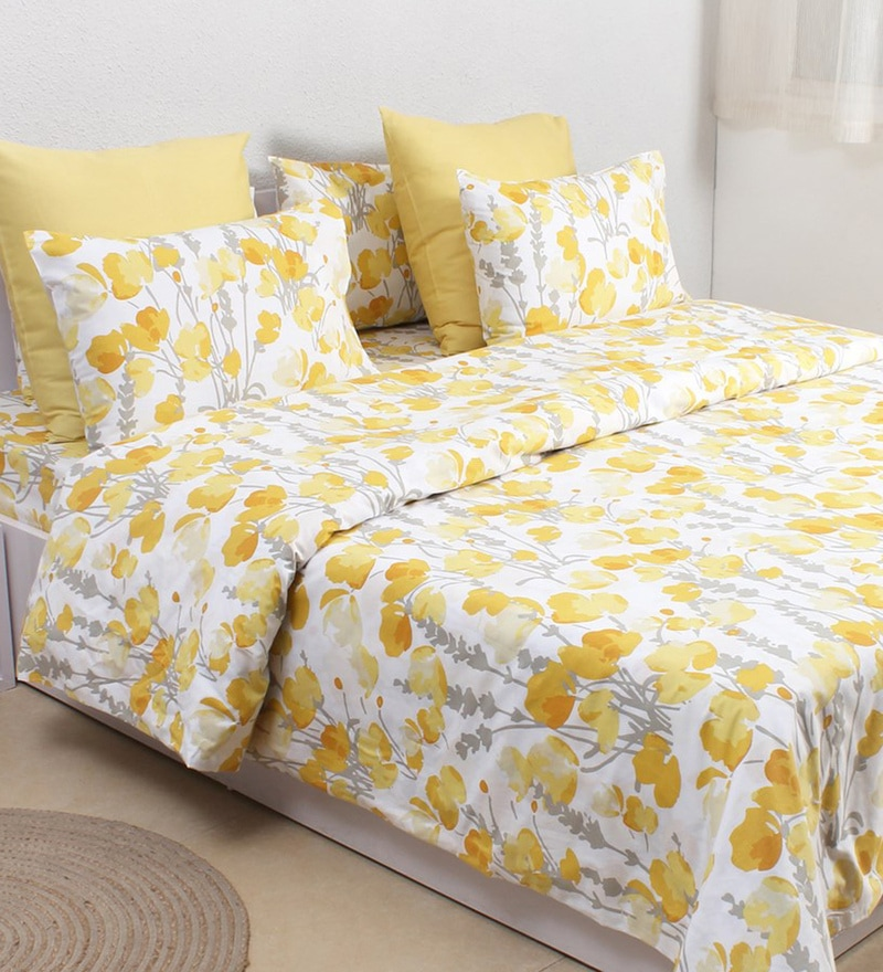 Yellow 100% Cotton Double Size Dohar by House This