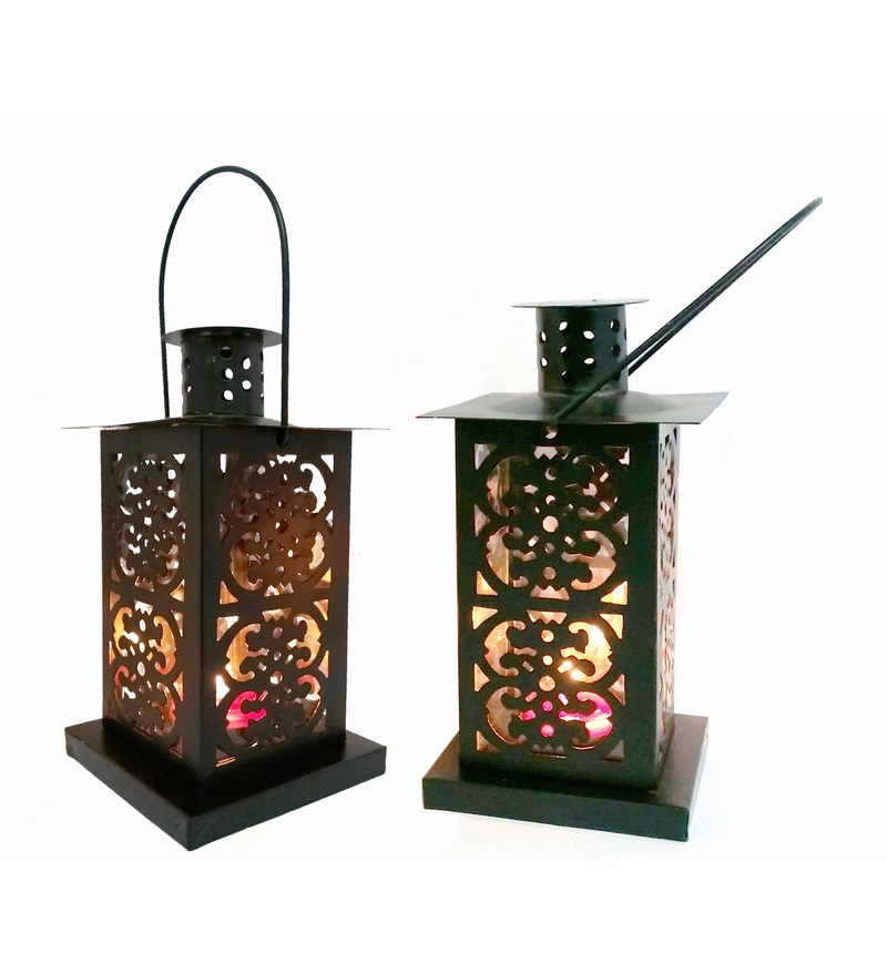 Black Iron Lantern - Set Of 2 by House2home