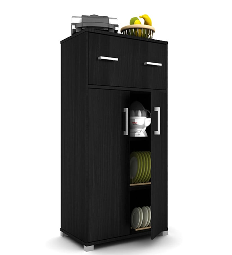 Kitchen Cabinets Order Online: Buy Benin Kitchen Cabinet In Black Oak By Housefull Online