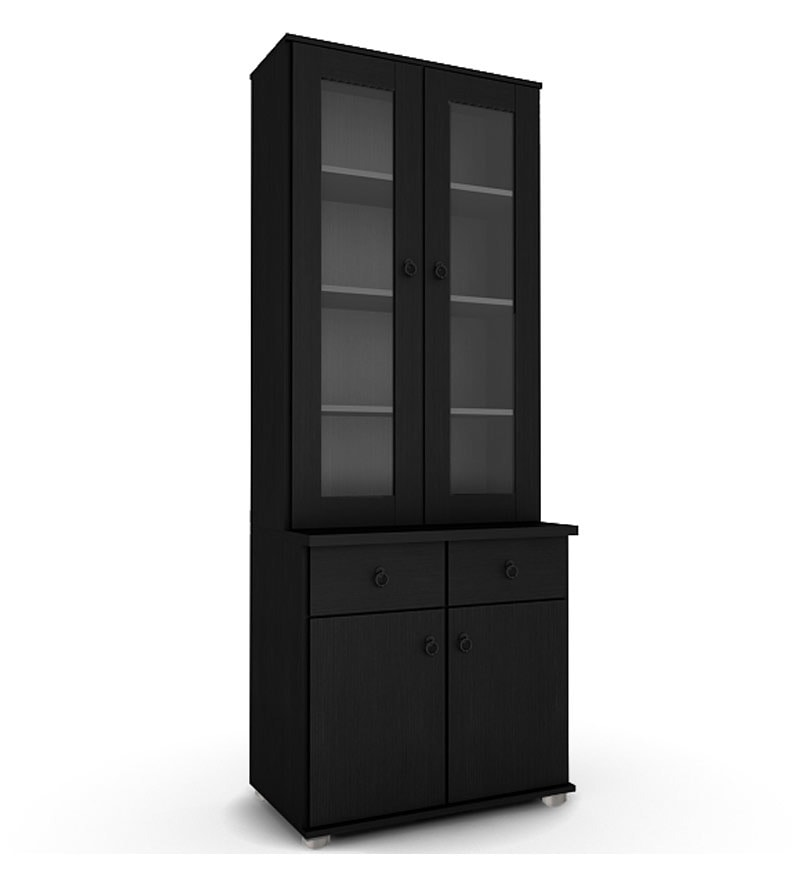 click to zoom in out buy wendy 2 door kitchen cabinet in wenge finish by housefull      rh   pepperfry com