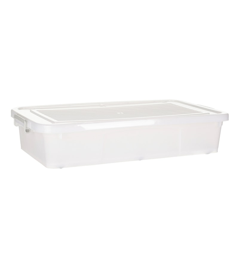 Howards Storage World Easi Store Underbed Plastic 45 L Storage Box with Wheels