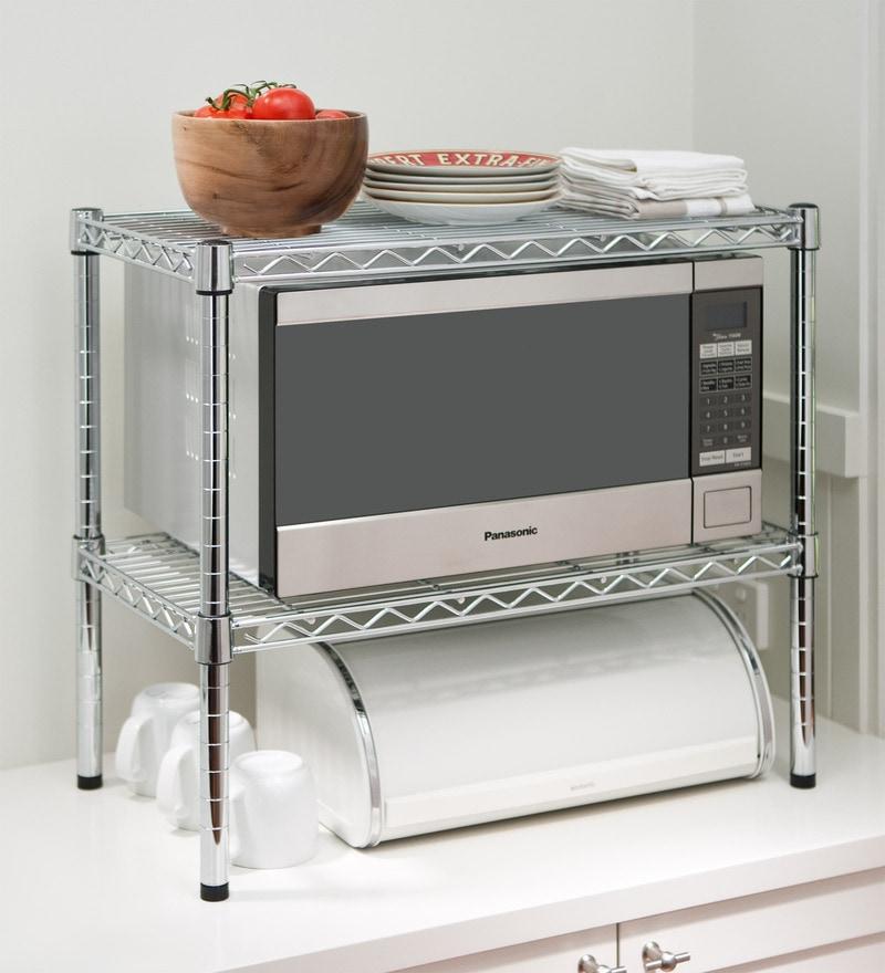 Buy Howards Storage World Easy-Build Chrome Microwave