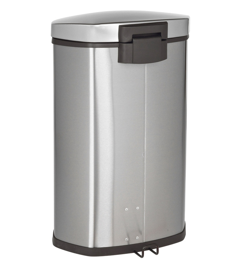 Howards Storage World Eko Soft Close Pedal Stainless Steel 6 L Dustbin