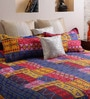Multicolor Cotton 94 x 86 Inch Double Bed Sheet (with Pillow Covers) by Home Creation