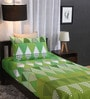 Green Cotton Single Size Bed Sheet - Set of 2 by Home Ecstasy