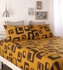Mustard Cotton Queen Size Bed Sheet - Set of 3 by Home Ecstasy