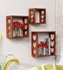 Home Sparkle Brown Engineered Wood Wall Shelves - Set of 3