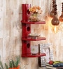 Red Mango Wood 3 Tier Round Shelf by Home Sparkle