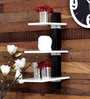 Home Sparkle White & Black Mild Steel 3-Tier Collapsible Rack