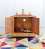 Gold MDF & Mango Wood Medium Home Temple with Door by Homecrafts