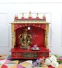 Homecrafts Multicolour MDF & Mango Wood Large Home Temple