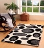 Black & White Polyester 71 x 47 Inch Old Pond Area Rug by HomeFurry
