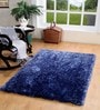 Blue Polyester 71 x 47 Inch Maxer Area Rug by HomeFurry