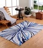 Blue Wool 71 x 47 Inch Area Rug by HomeFurry