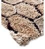 HomeFurry Brown Polyester 72 x 48 Inch Honey Nest Area Rug