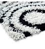 Black And White Polyester 60 x 36 Inch Area Rug by HomeFurry