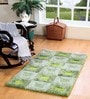 Green Polyester 60 x 36 Inch Fat Window Area Rug by HomeFurry