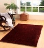 Maroon Polyester 71 x 47 Inch Ricer Area Rug by HomeFurry