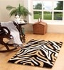 Homefurry Multicolour Polyester 60 x 36 Inch Golden Zebra Area Rug