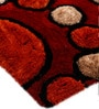 Multicolour Polyester 71 x 47 Inch Mix Bubbles Area Rug by HomeFurry