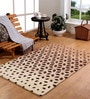 Multicolour Wool 71 x 47 Inch Geometric Area Rug by HomeFurry