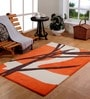Multicolour Wool 47 x 71 Inch Abstract Area Rug by HomeFurry
