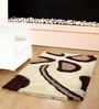 HomeFurry Brown Polyester 72 x 48 Inch Panda Patch Area Rug