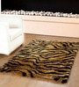 Yellow Polyester 72 X 48 Inch Tiger'S Skin Carpet by Homefurry