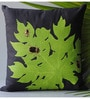 Homeight Black Cotton 16 x 16 Inch Papaya Disco The Beetle's Dance Square Cushion Cover