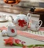 Homeight Peony Hysteria Bone China Teapot Set - Set of 3