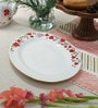 Homeight Peony Hysteria Oval Multicolour Bone China Platter